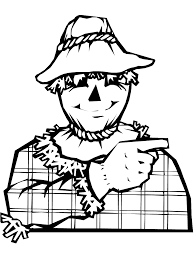security scarecrow coloring page thanksgiving pages scouts