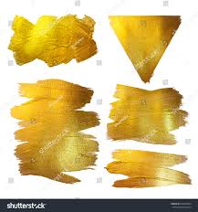 gold watercolor texture paint stain abstract stock illustration