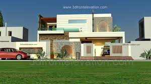Modern Home Design Las Vegas 3d Front Elevation Com 1 Kanal Beautiful Modern House Plan And 3d