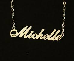 Personalized Gold Necklace Name Gold Name Necklace Bridal Necklace Wedding Gift 18k Gold 925