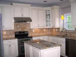 kitchens with white cabinets and dark countertops home photos by