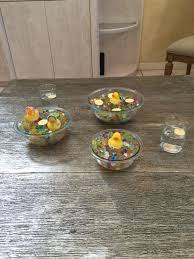 table scape rubber ducky gender reveal center piece baby shower