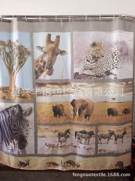 Leopard Print Shower Curtain by 3d Wild Animal Print Shower Curtainr Mildew Waterproof Polyester