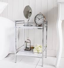 small bedroom table white and chrome small bedside table white bedroom furniture