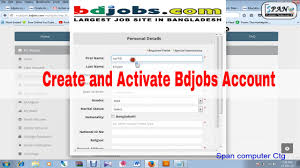 Bd Jobs Resume Format by How To Create And Activate Bdjobs Account And How To Apply Job