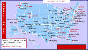 us map by states and cities united states cities
