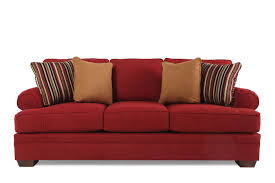 Red Pillows For Sofa by Broyhill Landon Red Sofa Mathis Brothers Furniture