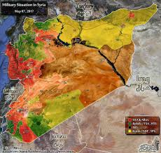 Syria On A Map by Complete Map Of Syrian War May 2017