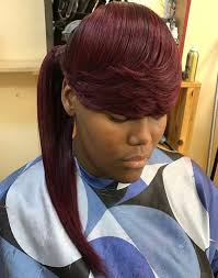 long hair styles with swoop bangs black hair 30 classy black ponytail hairstyles