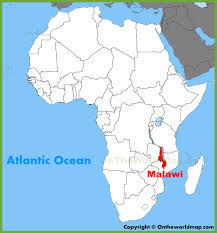 africa map malawi malawi location on the africa map