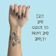 tattify diy temporary tattoo paper 2 pack for inkjet printers