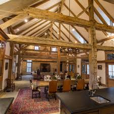 timber frame home interiors cutting ranch in county by stephen b chambers architects