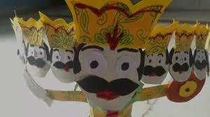 dussehra special how to make ravana at home diy art u0026 craft