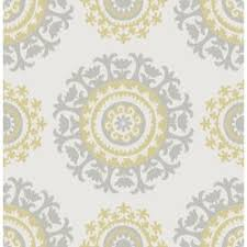 Peal And Stick Wall Paper Wallpops Grey And Yellow 18 U0027 X 20 5