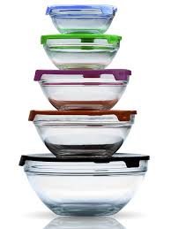 Imperial Home Decor Group Amazon Com Imperial Home Mw1640 Glass Mixing Bowls Glass Food