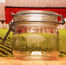 pig canister jar etchtalk com glass etching projects