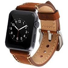 amazon com apple watch band 42mm premium vintage genuine leather