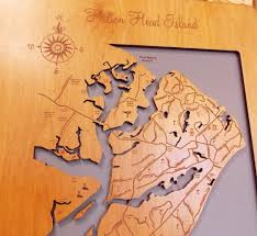 Map Of Hilton Head Island Hilton Head Island South Carolina Wood Laser Cut Map