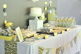 yellow baby shower decorations awesome yellow and white baby shower decorations decorating