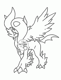 absol mega pokemon coloring pages for kids pokemon characters