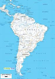 Map Of Caribbean And South America by Map Of South America