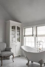 delightful white and grey french bathrooms features french