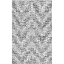 Grey Area Rug Nuloom Sherill Grey 6 Ft 7 In X 9 Ft Area Rug Bdsm01a 6709