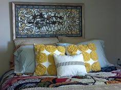 Fleur De Lis Headboard Dark Wood Door Headboard With Fleur De Lis Ceiling Tin 700 00