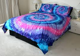 Tie Dye Bed Set Pink Purple Blue Tie Dye Quilt Cover Set 500tc Tye Dyed