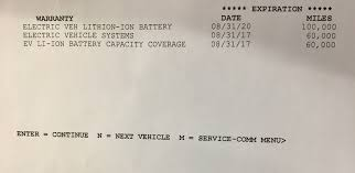 nissan leaf battery warranty test driving 2011 sl warranty confusion at 8 bars my nissan