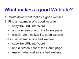 what makes a good home what makes a good website exles of bad websites for more really