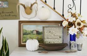 entry decor fall home tour 2017 refresh restyle