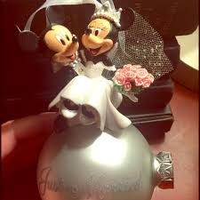 disney mickey and minnie just married ornament from s
