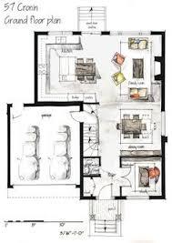 real estate watercolor 2d floor plans part 1 on behance tiny
