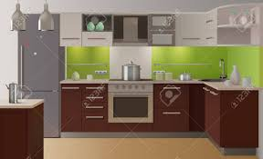 interior kitchen doors colored kitchen interior fully equipped in modern style with
