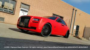rolls royce black bison project rolls royce ghost wrapped in matte red by dbx diamond