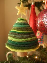 felt christmas tree ornament made of felt from etsy shop u0027sweet