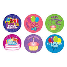birthday stickers happy birthday sticker roll 100 stickers office products
