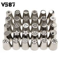 32pcs tulip flower icing piping nozzles set 100 plastic