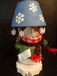 Bethlehem Lights Snowman by 2005 Avon Plush Country Snowman Lamp Christmas Snowflake Shade Ebay