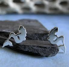mermaid earrings mermaid stud earrings sterling silver or 14k gold poseidon s