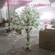 q12807 small white cherry blossom tree factory artificial