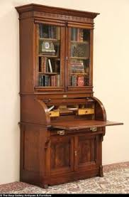 secretary desk with bookcase stunning walnut victorian cylinder roll secretary desk with bookcase