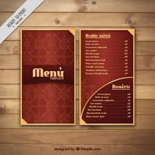 menu design resources arabic menu vectors photos and psd files free download