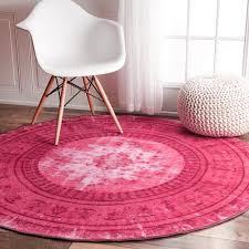 Round Red Rug Pantone Pink Yarrow Pantone Pink Rug And Pantone 2017 Colour
