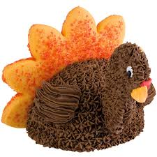 mini turkey thanksgiving cake wilton