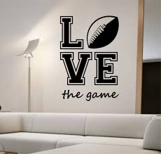 football wall decal love the game sticker art decor bedroom design