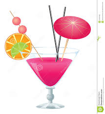pink lady cocktail pink cocktail stock vector image of booze party mixed 31909408