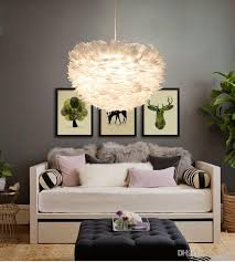 feather chandelier 2017 in stock white feather chandelier warm bird nest creative