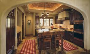 photos hgtv spacious old world kitchen with curved brick ceiling
